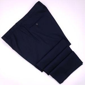 Hickey Freeman Blue Pants 38x27 Flat Front Navy Wo